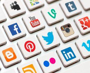 Facebook, Instagram, Twitter, Pinterest, Tumblr, Vine, Linkedin